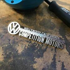 Competition Motors Volkswagen VW Dealer Emblem Badge okrasa samba zwitter split