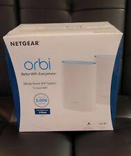 Netgear Orbi Ac3000 Trri-Band Wireless Router - White, Pack of 2 (Rbk50-100Nas)