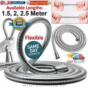 SHOWER HOSE 1.5/2/2.5M FLEXIBLE STAINLESS STEEL CHROME SHOWER BATHROOM PIPE