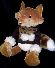 Bath and Body Works Stuffed Toy Fox Hickory w/Quilted Vest Gorgeous Plush Tail