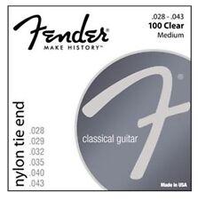 Fender Guitare Classique Cordes 100 Clear Medium Nylon Tie end