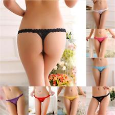 Mujeres t-back Bragas de encaje ropa interior lencería tanga calzas escritos