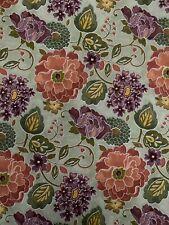 100% Cotton Fabric Fat Quarter Floral Green Purple 1/4 Yard FQ