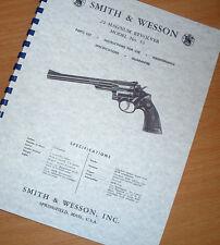 smith wesson gun manuals for sale ebay rh ebay com smith and wesson 1911 owners manual smith and wesson service manual