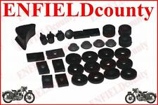 BLACK FLOOR + BODY VIBRATION RUBBER KIT LAMBRETTA GP LI TV SX SCOOT @ECspares
