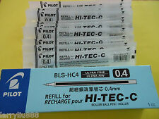 Pilot refill for Hi-Tec-c 0.4 mm ball pen X12 pcs, black