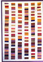 """Chinese Coin - quick & easy pieced quilt PATTERN for 2.5"""" strips - 4 sizes"""