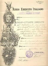 019 Foglio di Congedo Assoluto - Distretto Militare di Firenze R. Es. IT 1915