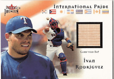2002 Fleer Premium International Ivan Rodriguez Bat