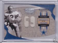 Roger Staubach Dallas Cowboys Jersey Insert Card Upper Donruss Leaf 2005 FG-62