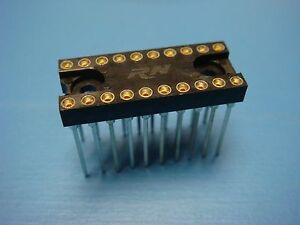 (5)  ICA-203-WB-TG-30 RN 20 Pin Wire Wrap 300 mil DIP IC Sockets Tin Leads