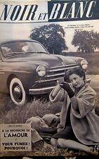 Viviane ROMANCE  en COUVERTURE de NOIR et BLANC N° 345 de 1951 AUTOMOBILES 52