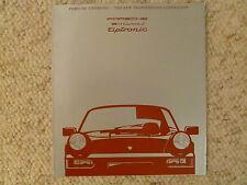 1990 Porsche 911 Carrera 2 Tiptronic Showroom Sales Brochure Awesome L@@K