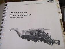 FMC Model 5600T 5600TE Tomato Harvester Service Manual