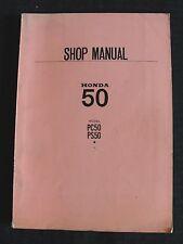 1968 HONDA 50 PC50 PS50 SCOOTER MOTORCYCLE REPAIR SHOP SERVICE MANUAL CLEAN!
