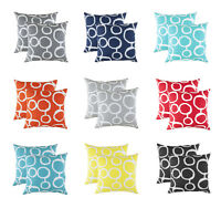 TreeWool, (2 Pack) Ringo Design Cotton Decorative Cushion Covers (Seconds)