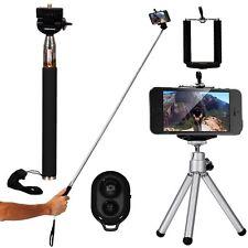 Kit Selfie Monopiede Asta+ Telecomando + TREPPIEDI CAVALLETTO per iPhone 5 5C 5S