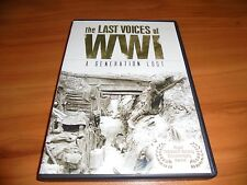 The Last Voices of WWI: A Generation Lost (DVD, 2011, 2-Disc Set) Used