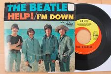 BEATLES Help/I'm Down 45 with Picture Sleeve (Capitol 5476) Maclen 1st, Scranton