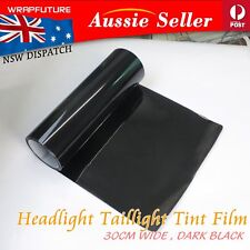 Smoke Dark Black Headlight Tint Film Auto Fog Tail Light Vinyl Sticker 30cm x 1M