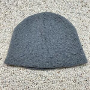 Unbranded Childrens Unisex Beanie One Size Light Gray Tight Knit Stretch