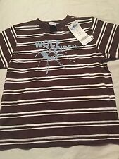 Gymboree Safari Outback Boys Short Sleeve Shirt Size 4 4T Wolf Spider Nwt