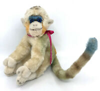 Steiff Mungo Monkey Mohair Plush 25cm 10in no ID 1960s Glass Eyes Vintage
