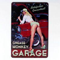 Metal Tin Sign Sexy Locomotive Girl Decor Bar Pub Home Vintage Retro Poster