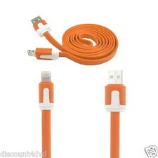 Flat  LIGHTNING Noodle USB Data  Cable for iPhone 6 Plus 5 5c 5s iPod iPad Air