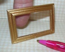 Miniature Handsome Rectangular Picture Frame GOLD  DOLLHOUSE Miniatures 1:12