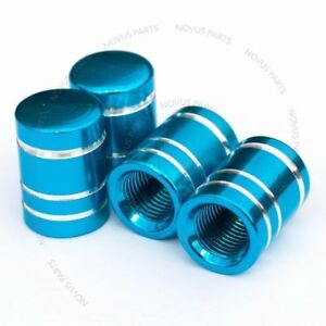 For Lexus IS350 LS460 ES350 Valve Stem Cover Set of 4 Round Light Blue Universal