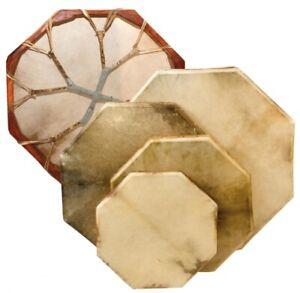 Schamanentrommel 8-eckig 40 cm Rahmentrommel Ziegenhaut Shaman Drum inkl. Stick