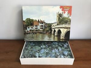 Vintage 3000 Piece Jigsaw Puzzle Henley on Thames England ~ Pieces Sealed In Bag