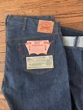 Vintage NWT LEVIS 501xx Shrink to Fit Button Fly Jeans USA 80s 44x40 Deadstock