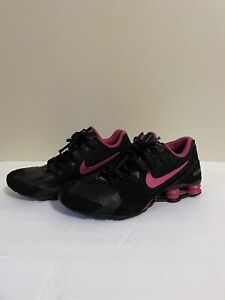 Nike Shox Avenue Youth GS Black Pink Running Shoes Size 6.5Y, Women's 8 EUR 39