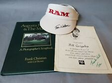 Tom Watson Autographed Signed Archive of Items, Masters Book, Hat and Paper