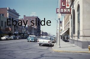 Orig 1960 35mm Kodachrome slide - Miami, Oklahoma downtown street scene