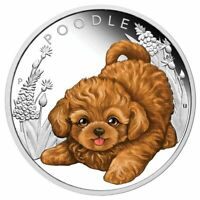 2018 Puppies Poodle 1/2oz Silver Proof Coin