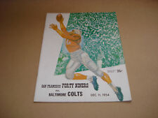S.F. FORTY NINERS VS BALTIMORE COLTS ~ GAME DAY PROGRAM ~ DECEMBER 11,1954