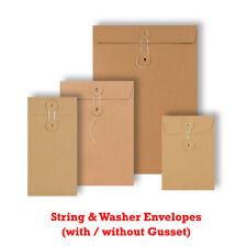 More details for manilla string & washer envelopes bottom&tie craft mailer fast & free delivery