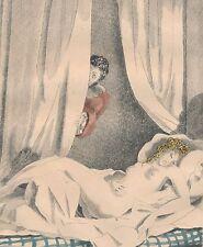 lot 2 Gravures couleur curiosa nu voyeur femme nue