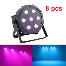 8 PACK DJ Uplighting 7x10W RGBW LED Stage Light Disco DMX Color Mixing Wedding