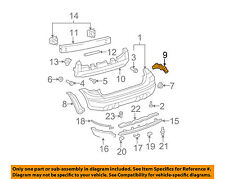 TOYOTA OEM 03-08 Matrix Rear Bumper-Side Support Right 5215502080
