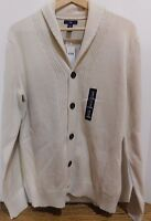 NWT GAP Men's Ivory Shawl Cotton Cardigan Small MSRP $60 Free Shipping NEW