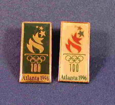 1996 Atlanta Olympic Games Logo Pin Set - Two 1996 Logo Pins -