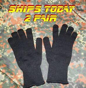 2 Pair USGI Cold Weather Gloves Black XL XXL Big Tall Trigger Mitten Inserts
