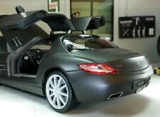 1:24 Scale Mercedes Gull Wing V8 SLS C197 AMG Welly Matt Satin Black Model Car