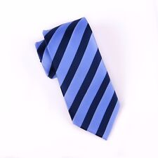 Popular Navy Boss Formal Business Striped 3 Inch Tie Mens Professional Fashion