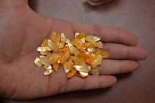 250+ PCS DYED ORANGE CUT MOTHER OF PEARL SHELL BEADS CHIPS #T-2149G