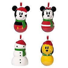 Disney Weihnachtsset 4teilig aus Keramik zum aufhängen und dekorieren,Neu